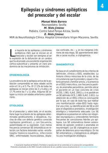 Epilepsias y síndromes epilépticos del preescolar y del - Asociación ...