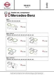 Gasket set, compressor Mercedes-Benz - Elring
