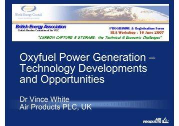 Oxyfuel Power Generation - World Energy Council