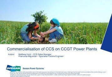 Commercialisation of CCS on CCGT Power Plants - Carbon Capture ...