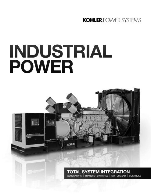Industrial Full Line Brochure (Printer-friendly) - Kohler Power
