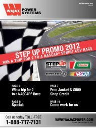 Step Up promo 2012 - Wajax Power Systems