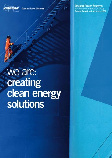 we are: creating clean energy solutions - Doosan Power Systems