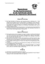 Hausordnung für das Quartierszentrum an der ... - Elsenfeld