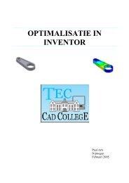 OPTIMALISATIE IN INVENTOR - CAD College