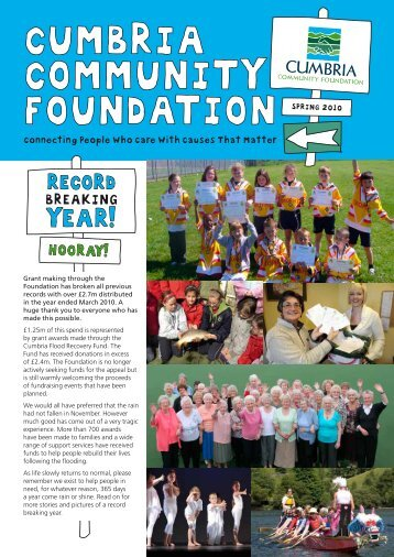 Newsletter 2010 - Cumbria Community Foundation