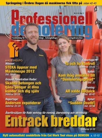 STOXA öppnar med Maskinexpo 2012 Skanna betongen ... - PDWorld