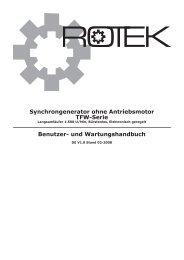 und Wartungshandbuch - Rotek Handels GmbH