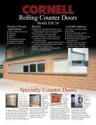 counter door tech data sheet