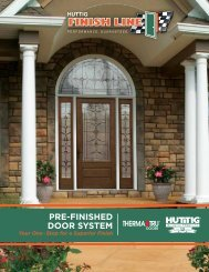 PRE-FINISHED DOOR SYSTEM - Huttig Building Products