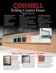 Counter Door Data Sheet 7 04.qxd - Cornell Iron Works, Inc.