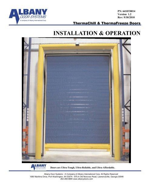 INSTALLATION & OPERATION - Albany Door Systems