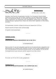 verslag gemeenteraad 21 juni 2012 - Gemeente Zulte