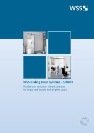 WSS-Sliding Door Systems - SPRINT