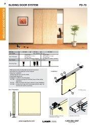 fd-70 sliding door system sliding door system