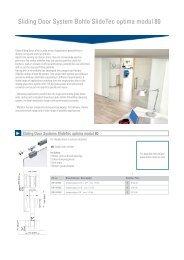 Sliding Door System Bohle SlideTec optima modul 80 - Bohle America