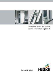 Sliding door system for universal cabinet construction ... - Hettich