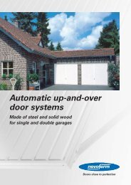Automatic up-and-over door systems - Novoferm