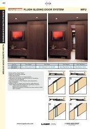 FLUSH SLIDING DOOR SYSTEM MFU - Sugatsune