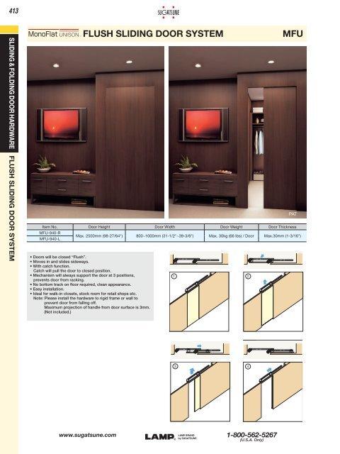 Flush Sliding Door System Mfu Sugatsune