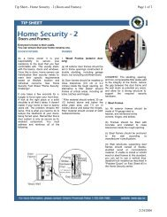 Page 1 of 2 Tip Sheet - Home Security - 2 (Doors and Frames) 2/24 ...