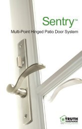 Multi-Point Hinged Patio Door System - Truth Hardware