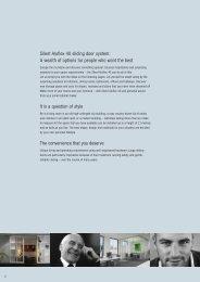 Silent Aluflex 40 sliding door system: A wealth of options for ... - Hafele