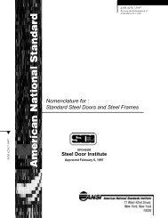 Nomenclature for: Standard Steel Doors and Steel Frames