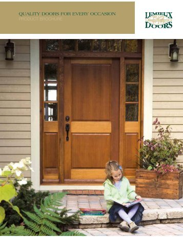 QUALITY DOORS FOR EVERY OCCASION - Lumber Products & K42V K42V Western Red Ced