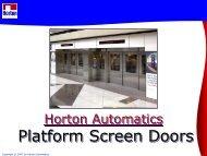 Platform Screen Door Systems - Horton Automatics