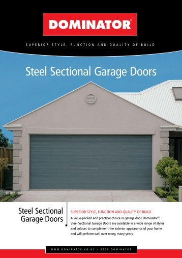 Steel Sectional Garage Doors - Dominator
