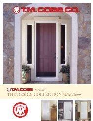The Design ColleCTion MDF Doors - T.M. Cobb