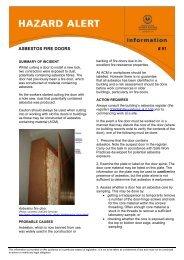 ASBESTOS FIRE DOORS # 91 - SafeWork SA - sa.gov.au