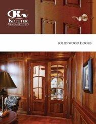 SOLID WOOD DOORS - Koetter Woodworking