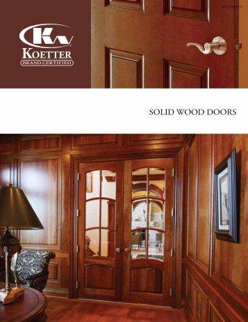 SOLID WOOD DOORS - Koetter Woodworking & FINELINE™ aluminium framed doors \u2022 CHOICE OF SOLID ...