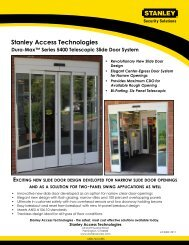 Dura-Max™ Series 5400 Telescopic Slide Door System