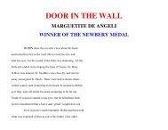 DOOR IN THE WALL - CSIR