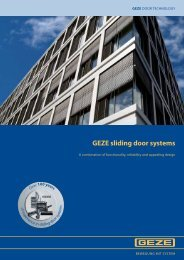 GEZE sliding door systems - Clearmont