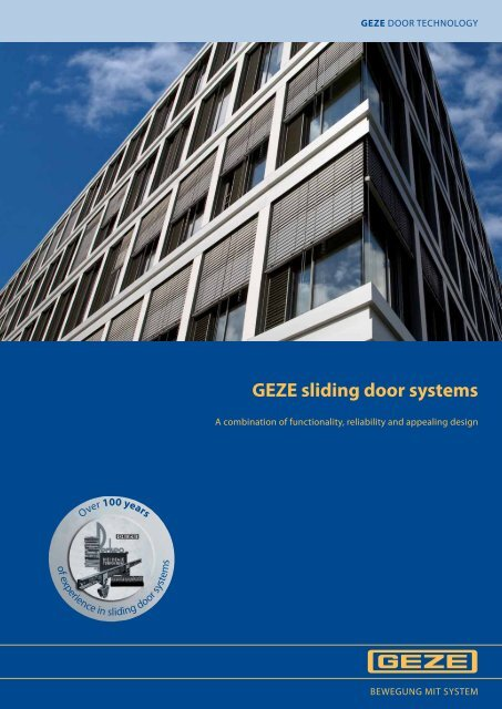 GEZE sliding door systems - Clearmont