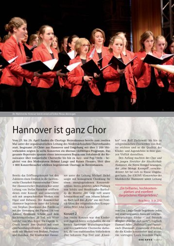 Hannover ist ganz Chor