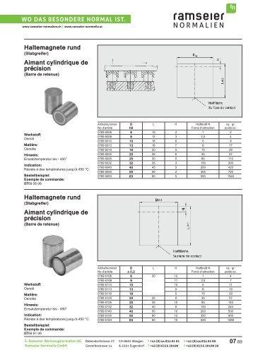 Aimant cylindrique [PDF 1,99 MB] - Ramseier-Normalien