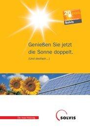 Solvis Kollektoren Broschüre - PINK.co.at