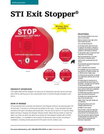 STI exit Stopper® - Safety Technology International Inc.