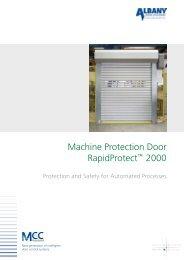 Machine Protection Door RapidProtect™ 2000 - High speed ...