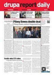 Pitney Bowes double deal - Drupa Report Daily