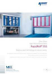 Maxiflex Door Systems - RapidRoll 355 High ... - Specifile on-line