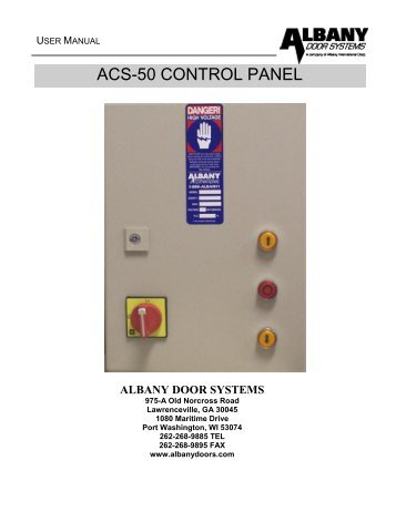ACS-50 Control Panel - Albany Door Systems