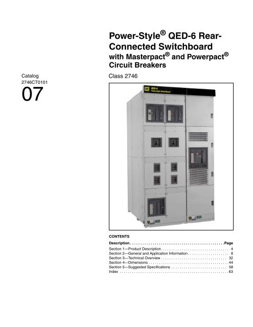 Power Style Qed 6 Rear Connected Switchboard Schneider Electric