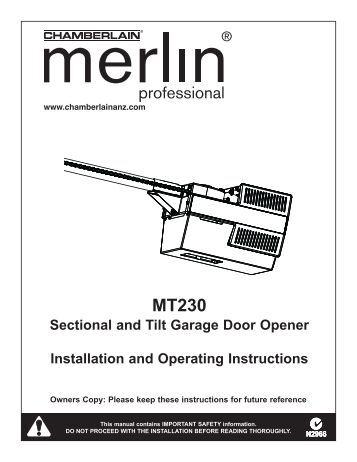 He60r rolling garage door opener installation and - Install chamberlain garage door opener ...
