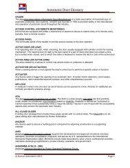 Automatic Door Glossary - Horton Automatics